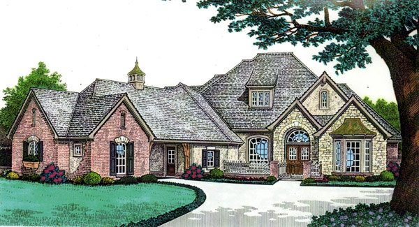 Country, Southern House Plan 66239 with 4 Beds, 4 Baths, 3 Car Garage Elevation
