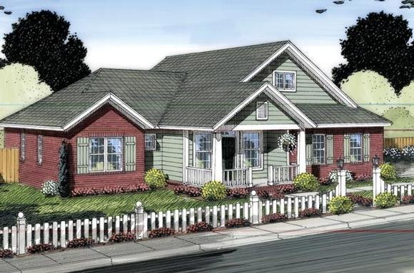 Country, Traditional House Plan 66543 with 3 Beds, 2 Baths, 2 Car Garage Elevation
