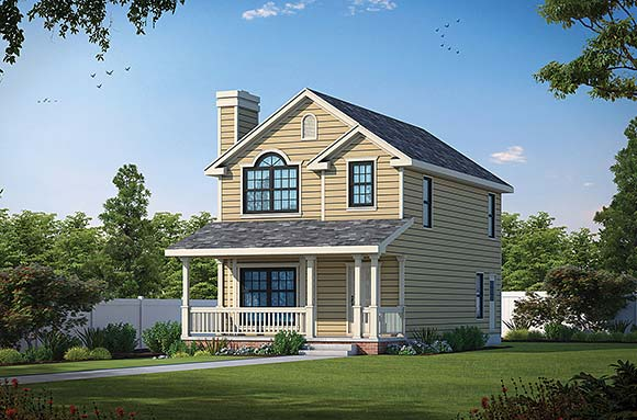 Farmhouse House Plan 66719 with 3 Beds, 3 Baths Elevation