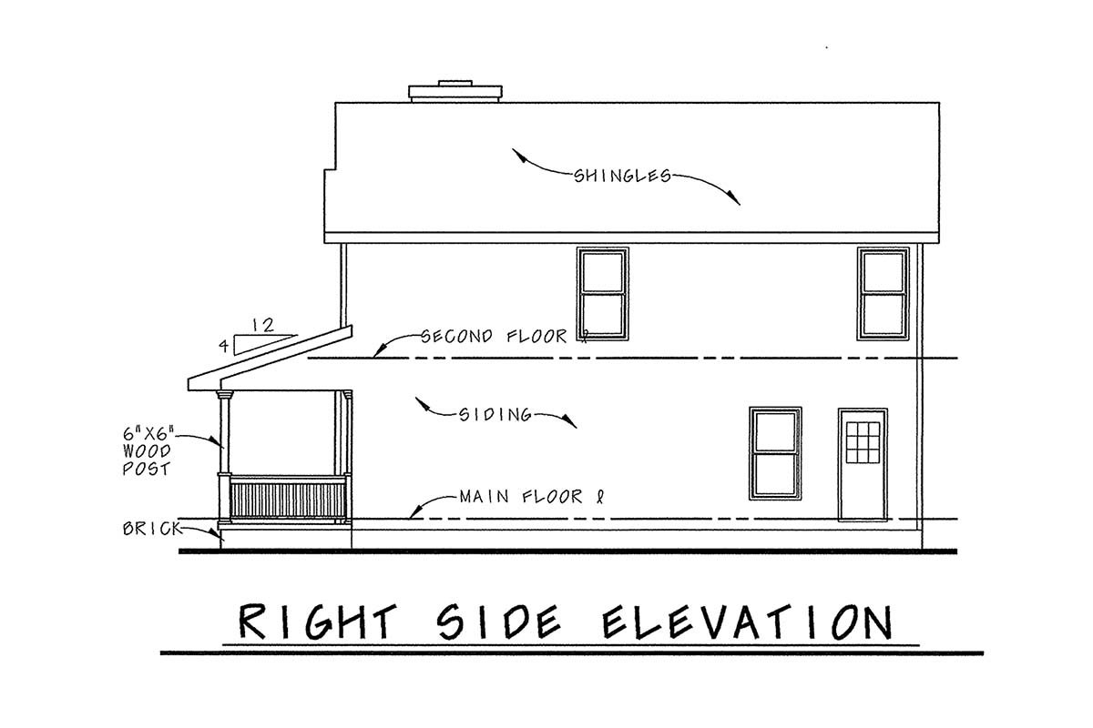 Farmhouse House Plan 66719 with 3 Beds, 3 Baths Picture 1