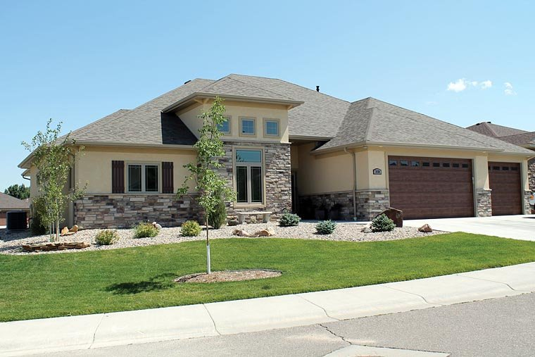 Contemporary, European, Southwest House Plan 66723 with 3 Beds, 2 Baths, 3 Car Garage Elevation