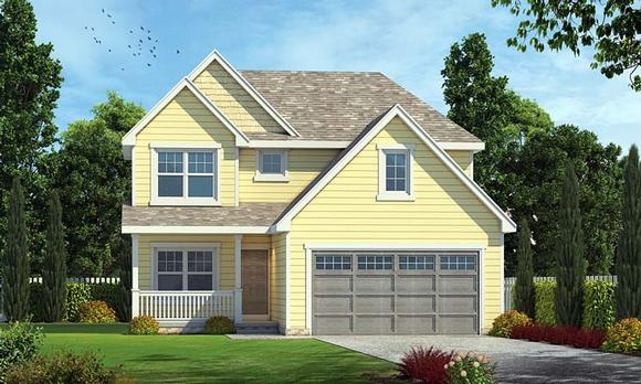 Country, Southern, Traditional House Plan 66760 with 3 Beds, 3 Baths, 2 Car Garage Elevation