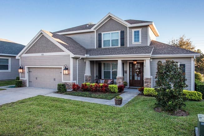 Bungalow, Craftsman, Florida, Traditional House Plan 66937 with 4 Beds, 3 Baths, 2 Car Garage Elevation