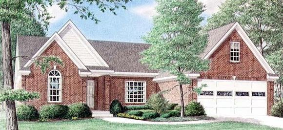 One-Story, Traditional House Plan 67016 with 3 Beds, 2 Baths, 2 Car Garage Elevation
