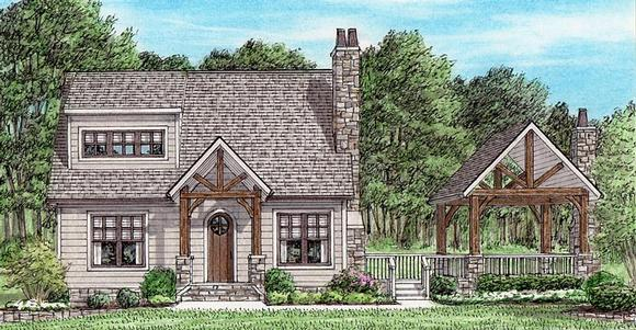 Cottage, Country, Craftsman House Plan 67156 with 2 Beds, 3 Baths Elevation