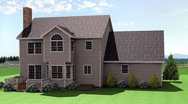Farmhouse House Plan 67253 with 3 Beds, 3 Baths, 2 Car Garage Rear Elevation