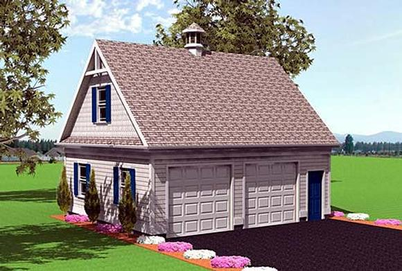 2 Car Garage Plan 67299 Elevation
