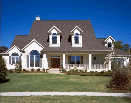 European House Plan 67414 with 4 Beds, 4 Baths, 2 Car Garage Elevation