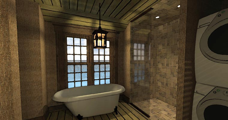 Coastal House Plan 67540 with 1 Beds, 1 Baths Picture 9