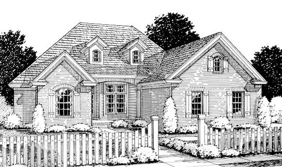 Traditional House Plan 67880 with 4 Beds, 2 Baths, 2 Car Garage Elevation