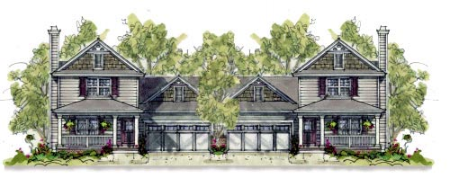 Multi-Family Plan 67903 with 6 Beds, 6 Baths, 4 Car Garage Elevation
