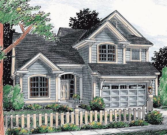 Traditional House Plan 68485 with 3 Beds, 3 Baths, 2 Car Garage Elevation