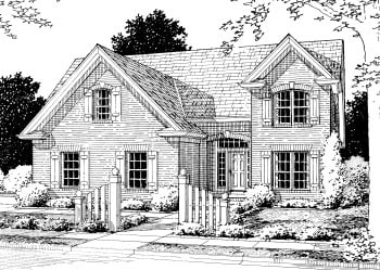 Country, European House Plan 68498 with 4 Beds, 4 Baths, 2 Car Garage Elevation
