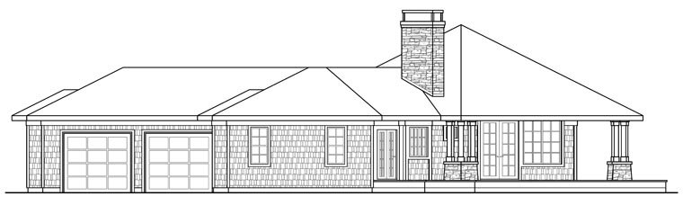 Contemporary House Plan 69143 with 3 Beds, 2 Baths, 2 Car Garage Picture 2