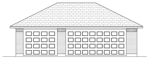 Traditional 3 Car Garage Plan 69905 Elevation