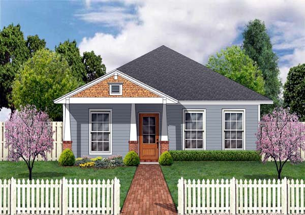 Craftsman House Plan 69908 with 3 Beds, 2 Baths Elevation