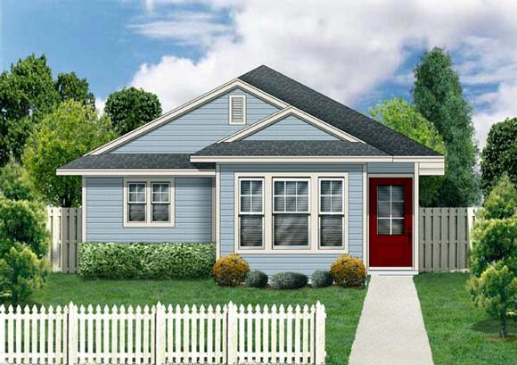 Craftsman House Plan 69909 with 3 Beds, 2 Baths Elevation
