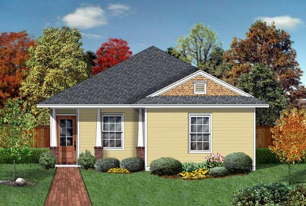 Craftsman House Plan 69911 with 4 Beds, 2 Baths Elevation