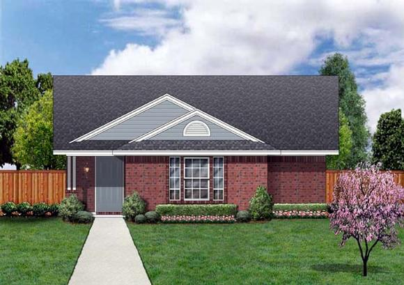 Craftsman House Plan 69913 with 4 Beds, 2 Baths Elevation