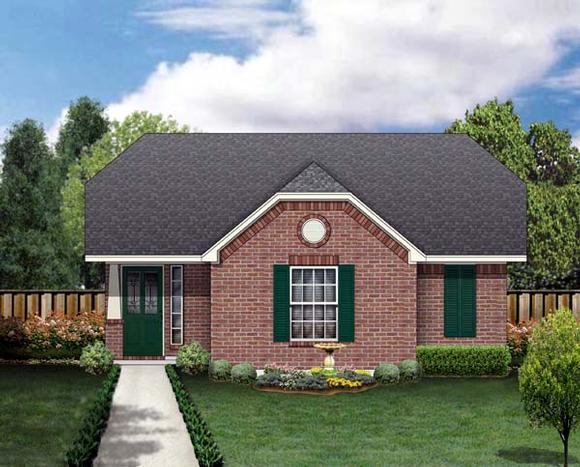 Craftsman House Plan 69914 with 3 Beds, 2 Baths Elevation