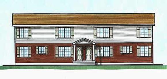 Colonial Multi-Family Plan 70459 with 6 Beds, 4 Baths Elevation