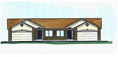 Traditional Multi-Family Plan 70460 with 8 Beds, 8 Baths, 4 Car Garage Elevation