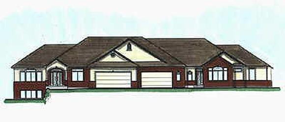 Traditional Multi-Family Plan 70462 with 6 Beds, 7 Baths, 4 Car Garage Elevation