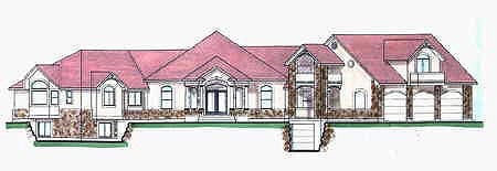 Traditional House Plan 70523 with 4 Beds, 4 Baths, 3 Car Garage Elevation