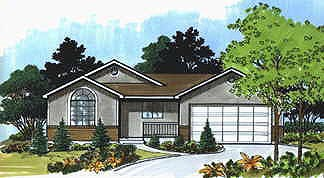 Traditional House Plan 70526 with 3 Beds, 1 Baths, 2 Car Garage Elevation