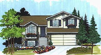 Traditional House Plan 70573 with 2 Beds, 1 Baths, 2 Car Garage Elevation