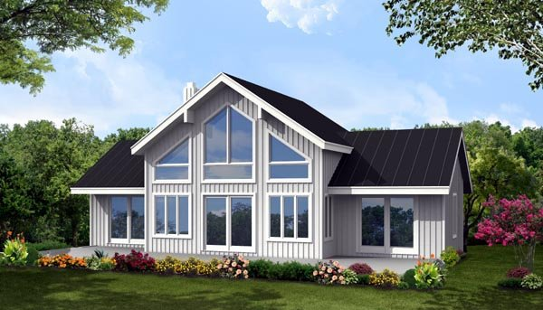 House Plan 71909 with 3 Beds, 3 Baths Elevation