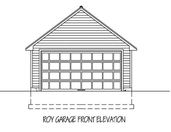 Cottage, Country 2 Car Garage Plan 71911 Elevation