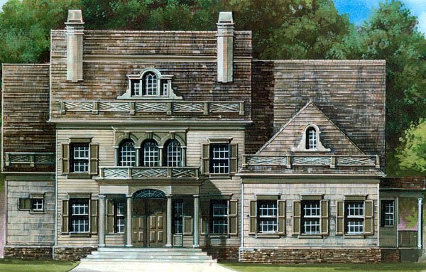 Colonial, Greek Revival House Plan 72029 with 4 Beds, 4 Baths, 3 Car Garage Elevation