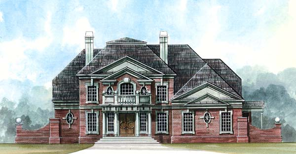 Colonial, Greek Revival House Plan 72060 with 4 Beds, 4 Baths, 3 Car Garage Elevation