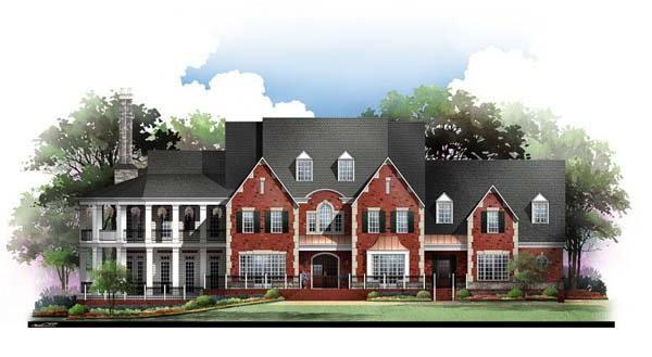 Colonial, Greek Revival House Plan 72127 with 4 Beds, 6 Baths, 3 Car Garage Elevation