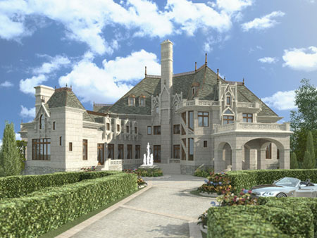 European, Greek Revival House Plan 72130 with 6 Beds, 5 Baths, 4 Car Garage Picture 1