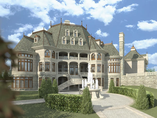 European, Greek Revival House Plan 72130 with 6 Beds, 5 Baths, 4 Car Garage Picture 2