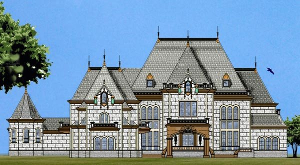 European House Plan 72133 with 6 Beds, 8 Baths, 4 Car Garage Elevation