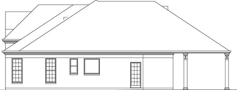 European House Plan 72162 with 3 Beds, 3 Baths, 2 Car Garage Picture 2