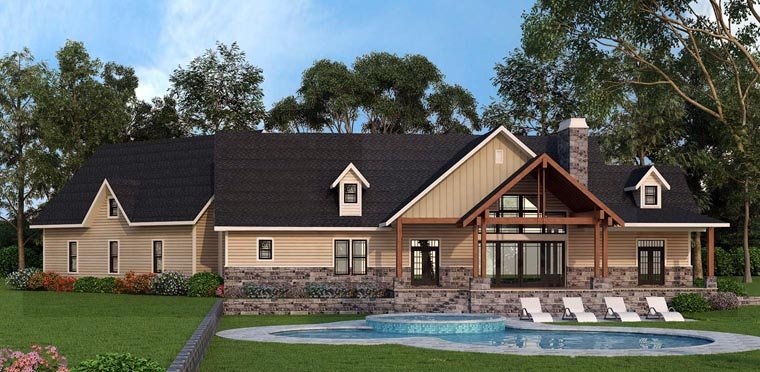 Country, Craftsman, Farmhouse, Traditional House Plan 72170 with 3 Beds, 3 Baths, 3 Car Garage Picture 6