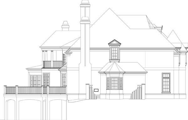 European, Greek Revival House Plan 72224 with 4 Beds, 6 Baths, 3 Car Garage Picture 1
