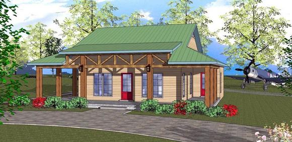 Cottage, Florida, Southern House Plan 72311 with 2 Beds, 1 Baths Elevation