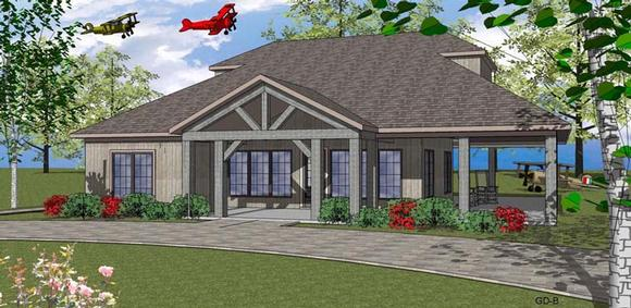 Coastal, Southern House Plan 72345 with 2 Beds, 3 Baths Elevation