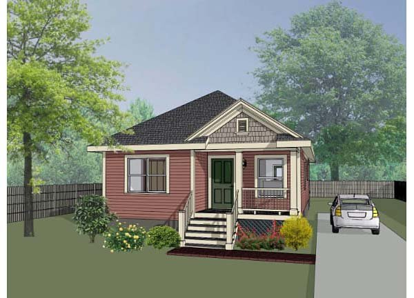 Bungalow House Plan 72710 with 3 Beds, 2 Baths Elevation