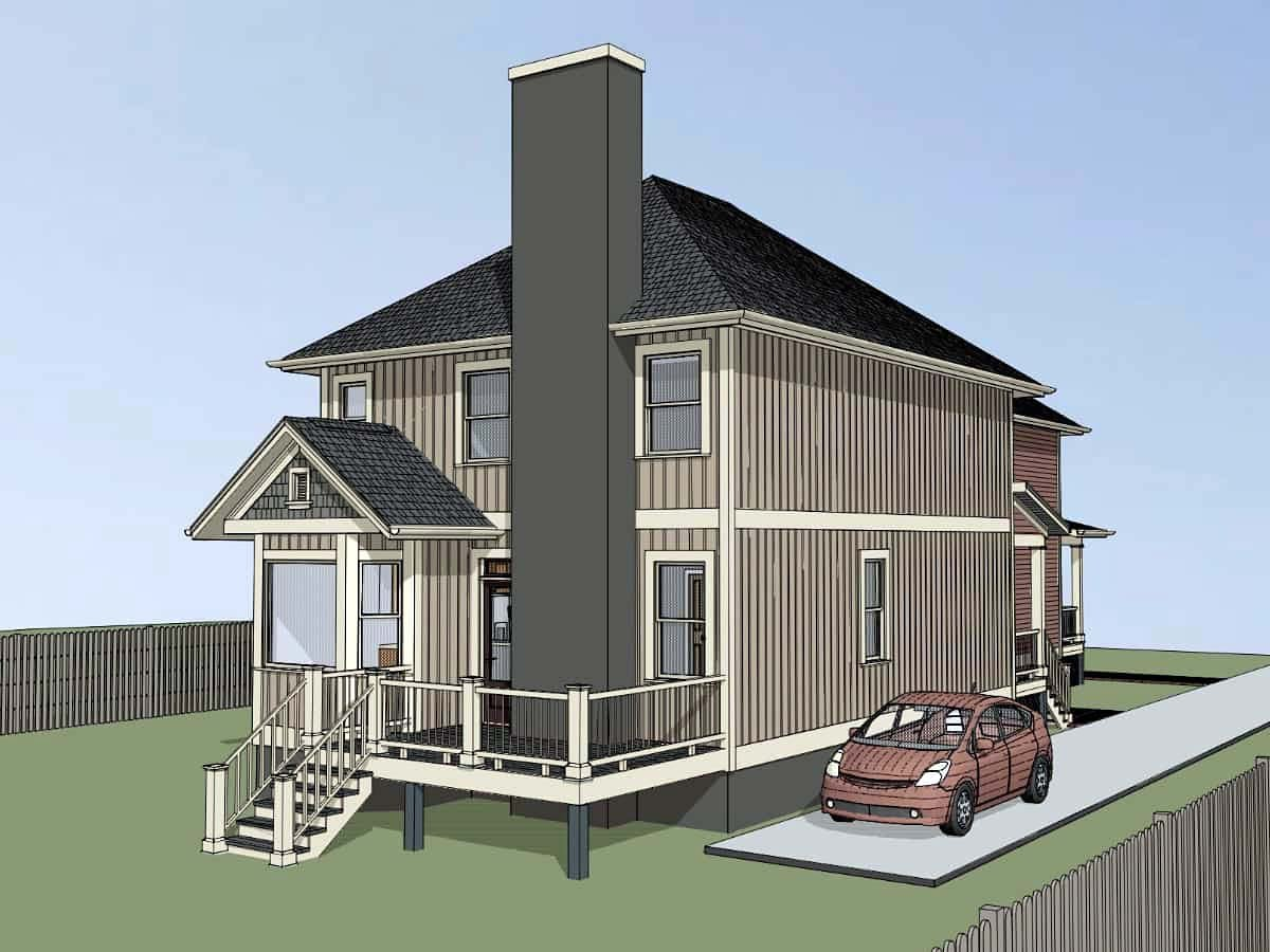 Bungalow Multi-Family Plan 72781 with 5 Beds, 5 Baths Picture 2