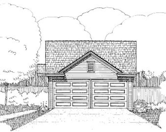 Bungalow 2 Car Garage Plan 72783 Elevation