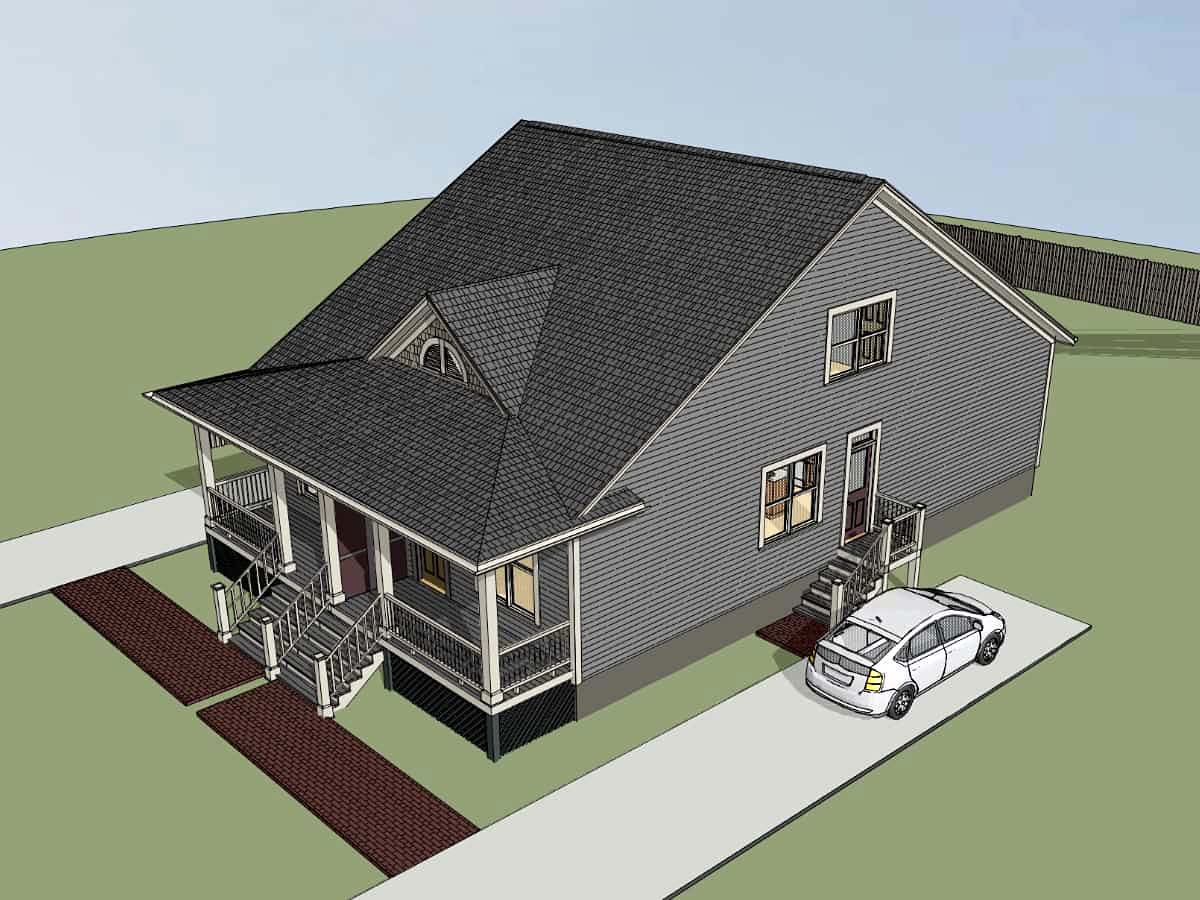 Multi-Family Plan 72786 with 4 Beds, 4 Baths Picture 1