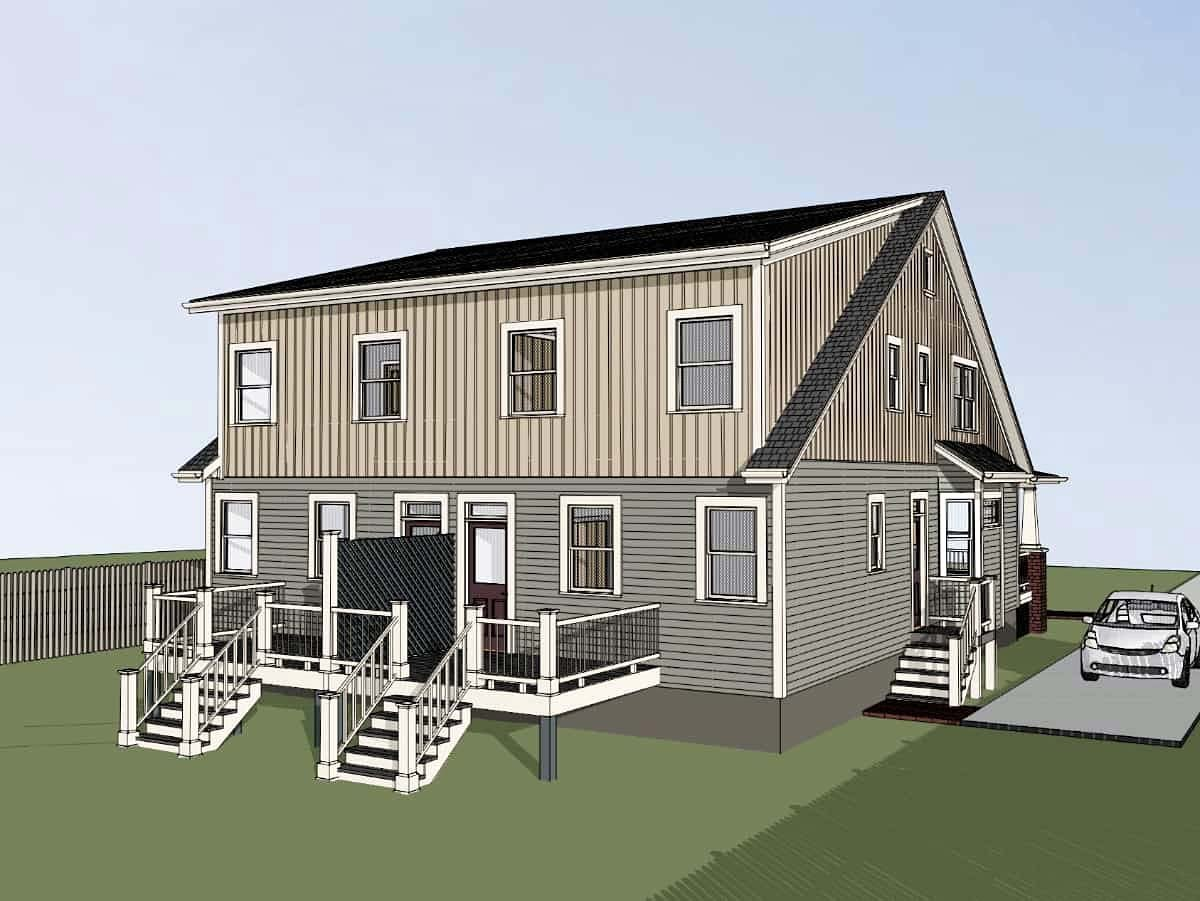 Multi-Family Plan 72790 with 6 Beds, 6 Baths Picture 2