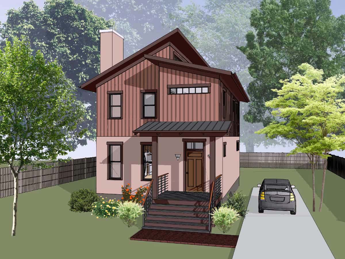 Contemporary House Plan 72796 with 3 Beds, 3 Baths Elevation