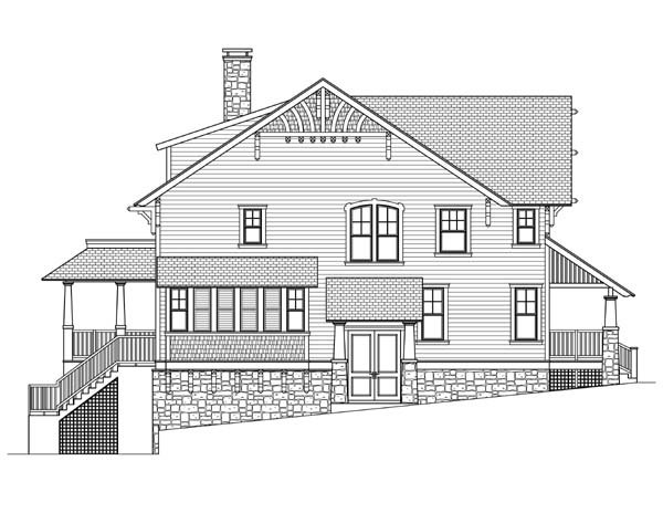Craftsman, Traditional House Plan 73601 with 4 Beds, 4 Baths Picture 1